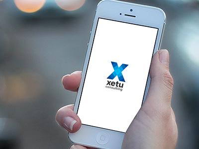 xetu consulting logo brand identity logo blue