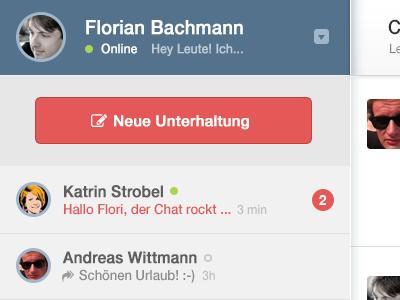 Chat Application chat flat
