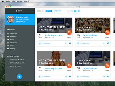 Desktop App UI business flat application simple clean ui app desktop
