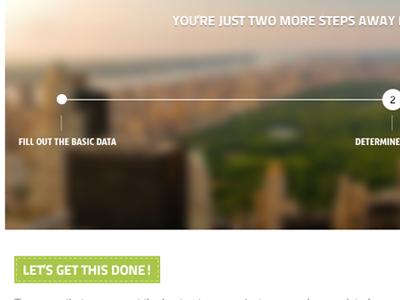 Let's get this done! design web blurry step navigation