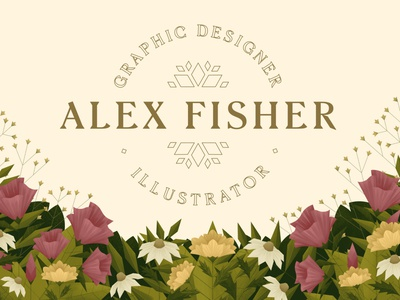 Portfolio Branding geometric animation gif typography floral flower flowers branding plants nature digitalartist illustration