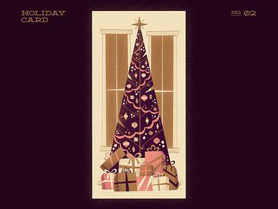 Dazzling Tree christmas tree winter holiday card holiday christmas decor xmas card xmas christmas card christmas illustraor procreate illustration digitalartist digitalart