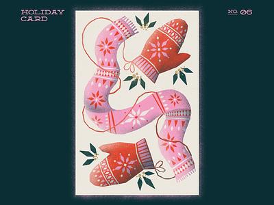 Winter Gear clothing winter scarf mitts xmas xmas card christmas card christmas procreateapp procreate illustration digitalartist digitalart