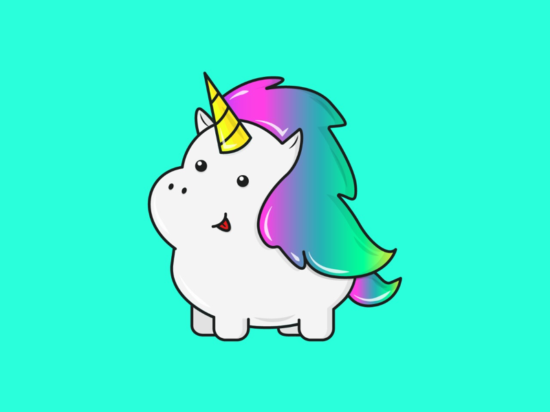 Happy Unicornio! illustrator gabs designer mexican blue horn colorful happy fantasy fantasyart magic unicorn