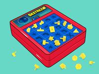 Destreza gabs vectorart illustrator art red boardgames intense childhood classic boardgame fun designer illustrator game juegodemesa