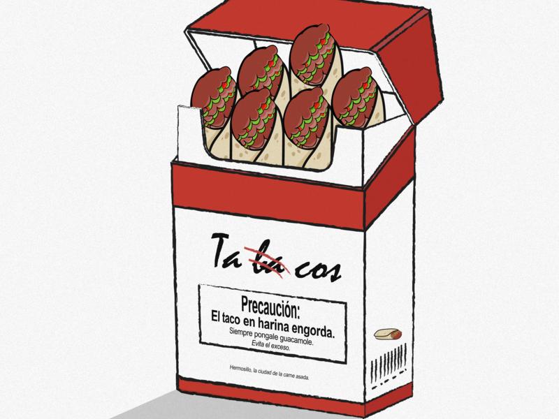 Ta ba cos food art illustrator illustration smoking smoke tacoslover mexico mexicanfood cigarrettes cigarros cigarrillo tabaco tacos