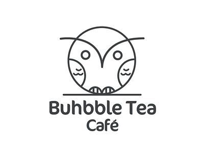 Buhbble tea Cafe designing designer bubbles newbrand tea cup gabs mexico buho owl logotype logodesigner branding brand hotdrink drinks bubbletea coffeeshop coffee tea