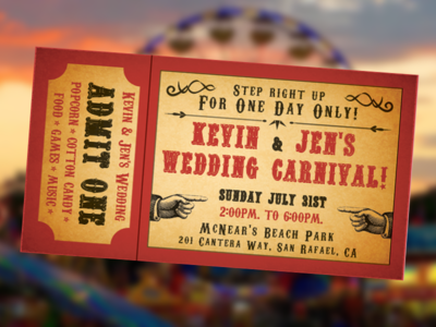 Carnival Wedding Invitation
