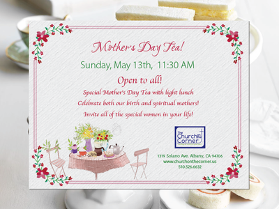 Mothers Day Event Invite