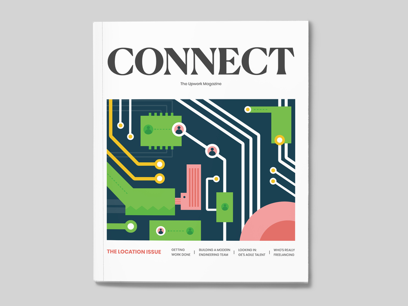 [Issue 1] CONNECT, The Upwork Magazine magazine print layout typography illustration graphic content design