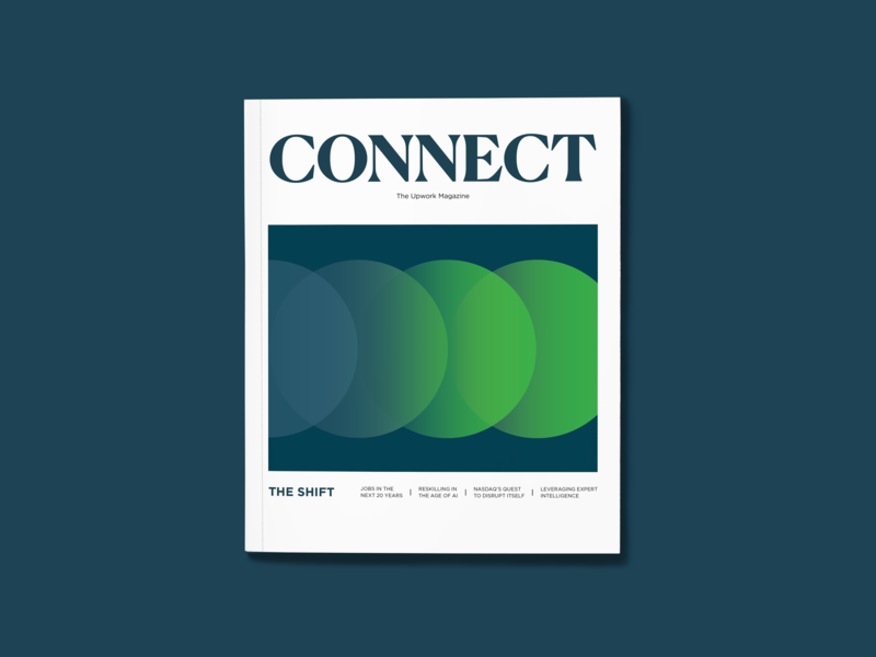 [Issue 2] CONNECT, The Upwork Magazine print magazine layout typography 3d illustration illustration graphic content design