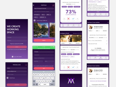 MATCHWORK, the Freelance app - UI/UX