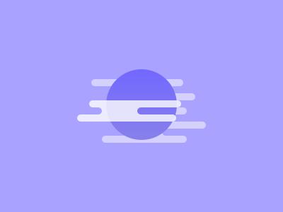 ☁︎ foggy ☁︎ sun moon fog cloud illustration