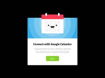 Google Calendar Authorize illustration google modal popup calendar sketch ui