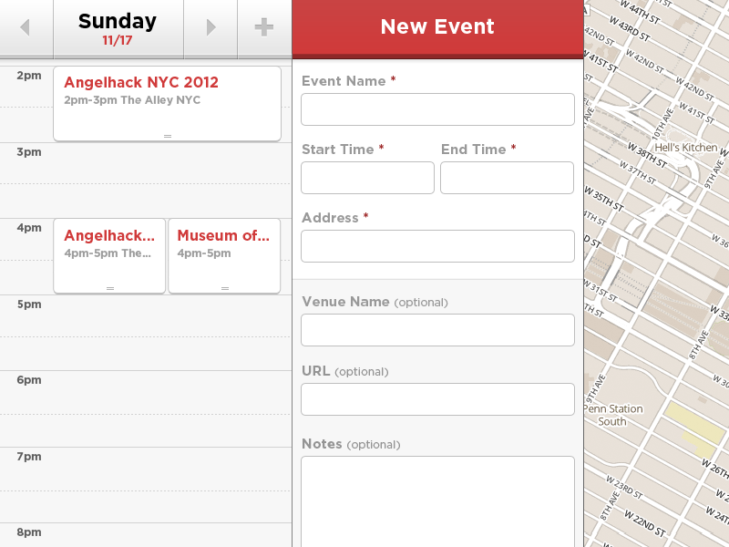 @2x | Add New Event Pane new event address form add
