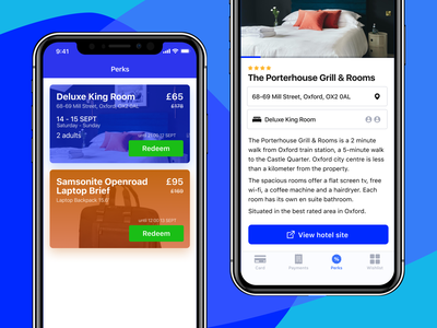 Offers - Booking hotel design ui figma hotel blue offer booking tabbar ios mobile