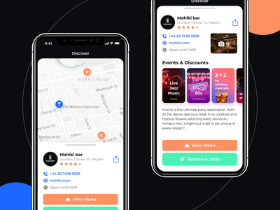 Bar on the map stories ux ui design figma ios app ios mobile