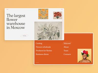 Flower warehouse web concept webdesign ui