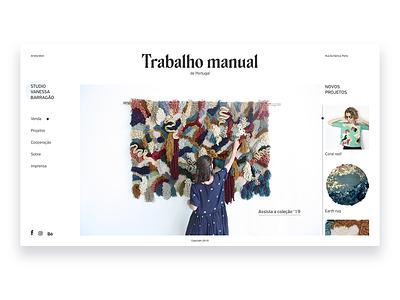 Vanessa Barragão website webdesign web ux ui design
