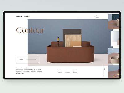 Contour concept minimalistic inspiration web website concept
