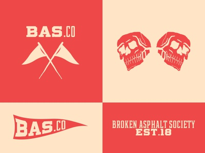 Broken Asphalt Society color shot design texture typography adobe type font graphic design dribbble