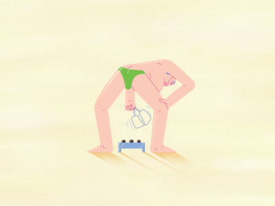 The speedo sporter belly illustration beach speedo