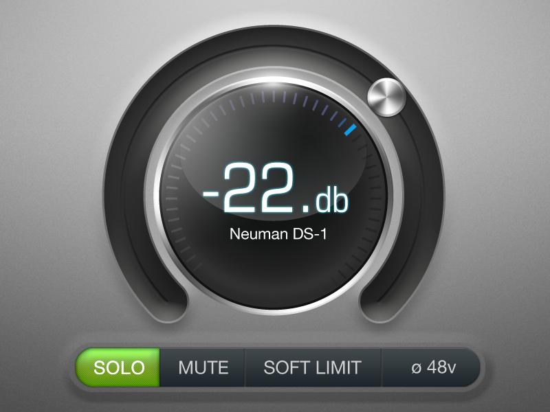 Volume Slider volume gui slider 3d button glass audio bevel value radial ui music decibel iphone metal clean button bar