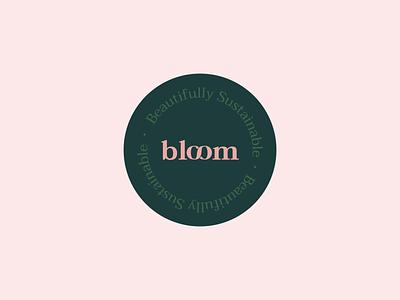 Bloom sticker sushi logo typography environmentally sustainable environmental branding environmental green sustainability design branding