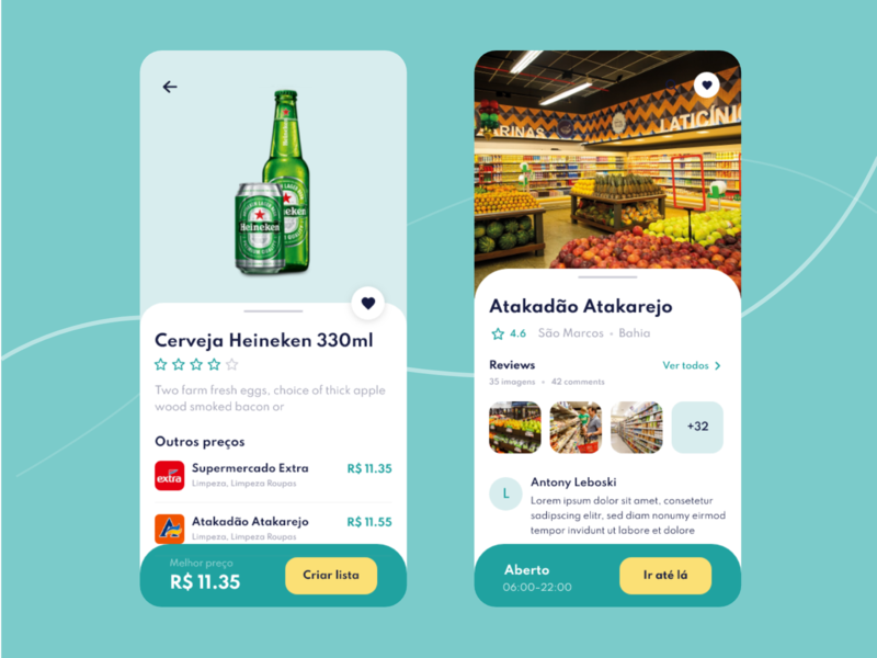 Mobile App - Price comparison in supermarkets