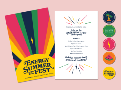 Energy Summer Fest Invitations