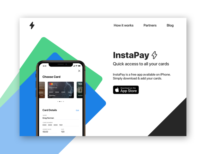 Payments App Concept - Landing Page app designers uidesign landing page apple pay ios daily challange dailyui 003 dailyui app design