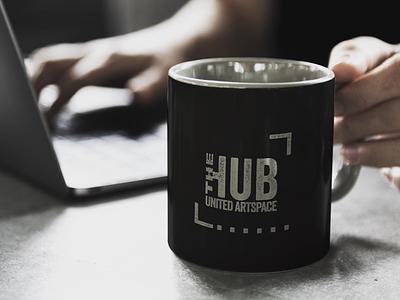 The Hub Brand Identity tribe social media artist black and white logo design logo brand identity