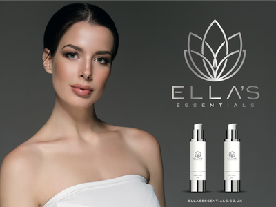 Ella's Essentials promo shots advertising logo design branding cosmetics cbd