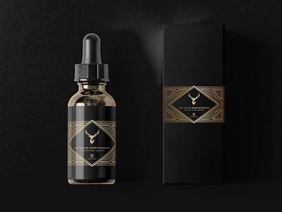 CBD Guru Signature Series spot foil bronze branding label design packaging cbd