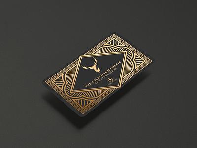CBD Guru Signature Series premium cbd branding business card design spot foil bronze golf