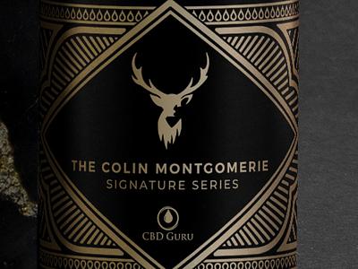 CBD Guru Signature Series branding design bronze foil logo design graphic design packaging design