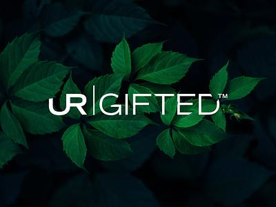 UR Gifted white simple logo-design branding logo gifted charity