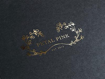Petal Pink ltd foil gold flowers branding-design logo-design branding logo