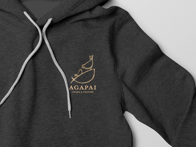 Agapai illustration hand-drawn wordmark identity branding logo