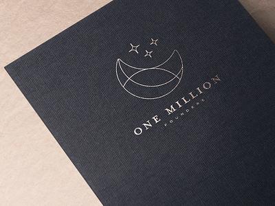 One million founders illustration gold identity branding logo