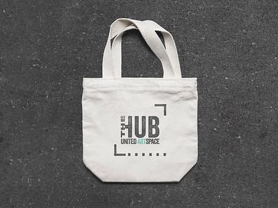 The Hub: United ArtSpace tote graphicdesign branding logo merchandise