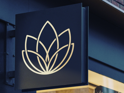 Logo design minimal design celtic gold and black branding graphic design yoga