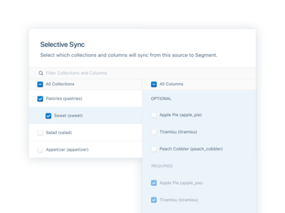 Selective Sync for Cloud Sources