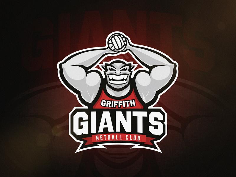 Giants Netball Logo giants netball vector sports sport mascot logo illustration identity design branding