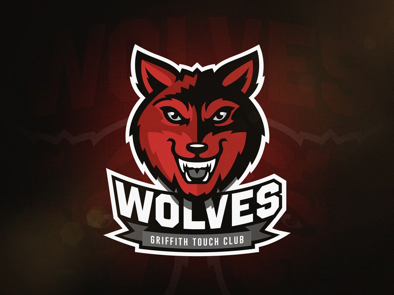 Wolves Touch Football Logo footy touch football touch wolf wolves vector sports sport mascot logo illustration identity design branding