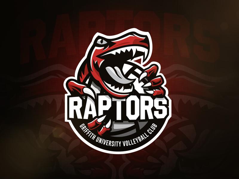 Raptors Volleyball Logo volleyball raptors raptor vector sports sport mascot logo illustration identity design branding