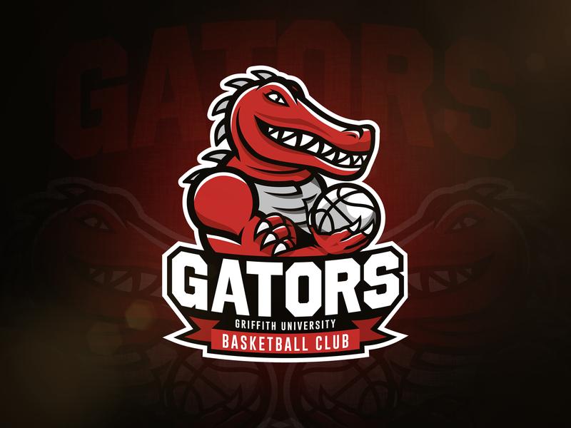Gators Basketball Logo basketball alligator gators gator vector sports sport mascot logo illustration identity design branding
