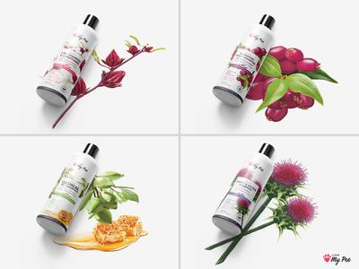 I Love My Pet - Shampoo Packaging digital illustration botanical pet pet shampoo packaging design branding illustration