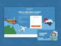 EVA Air Social Campaign Landing Page