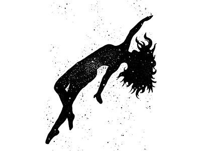 Star blackwork affinity designer drawing silhouette surreal galaxy star tarot tattoo digital illustration black and white illustration